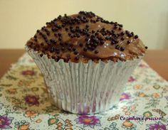 Cupcake de chocolate e café /  Chocolate and coffee cupcake