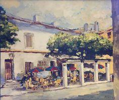 Cafe Street Scene by Henri Hess Various Artists, Fes, Santa Fe, Scene, Fine Art, Street, Gallery, Travel, Painting