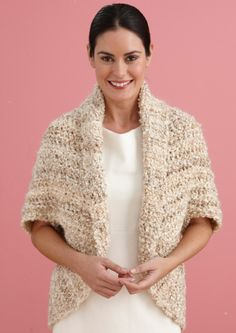 Image of Simple Crochet Shrug - Another that I would love to make for myself. Free pattern from Lion Brand Yarn.
