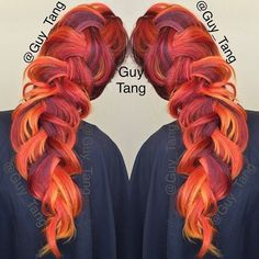 (4) Orange highlight dyed unique hair | Hair | Pinterest | Orange... ❤ liked on Polyvore featuring beauty products and haircare