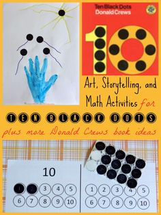 ten black dots for black day? Free 10 Black Dots Number Circles Printable (and link to Free Number Circles for Counting Flowers) from Inspiration Laboratories Kindergarten Classroom, Literacy Activities, Fun Math, Math Resources, Math Games, Teaching Math, Preschool Activities, Maths, Reading Activities