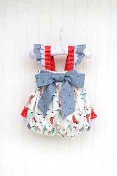 Sweet Sailor Baby Bubble - Kinder Kouture #FourthofJuly #Babyclothing #Babyfashion #kidsfashion