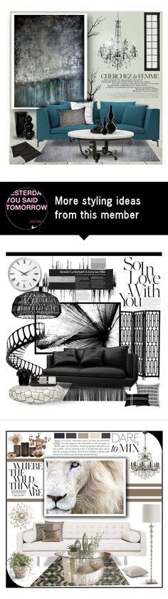 """Painted"" by sassyfashionista-101 on Polyvore featuring interior, interiors, interior design, home, home decor, interior decorating, Leftbank Art, La Femme, Redford House and Surya"