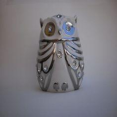 Xique Bazar Presentes - Cofre Coruja Porcelana