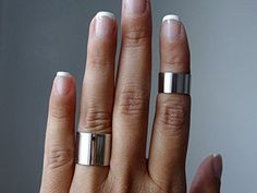 Set of 2 tube rings/ cuff rings / above the knuckle ring set A perfect balance between minimalist & statement jewelry. Hand-cut, polished, sanded for ultra-smooth edges and given a mirror finish. available in Matte / satin finish here: Wide Band Rings, Toe Rings, Laser Engraved Gifts, Engraved Jewelry, Knuckle Rings, Engagement Ring Settings, Ring Engagement, Statement Jewelry, Bracelets