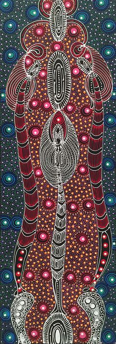 Colleen Wallace Nungari aboriginal artist 1973- Santa Teresa Northern Territory. I love her works. They are so spiritual; like looking up into the night sky.