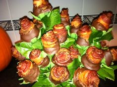 How to Make Chocolate-Covered Bacon Roses !