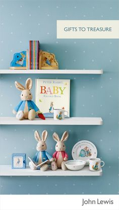 Celebrate a new baby's arrival with our selection of gifts – the Beatrix Potter range is timeless, perfect for a boy or a girl, and makes a lovely display in the nursery. You could go for a cute soft toy, a book for bedtime, or a classic mini Wedgewood set that mum and dad will love having on show in the nursery.