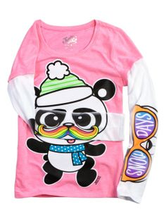 Winter Panda Graphic 2fer Tee | Girls Graphic Tees Clothes | Shop Justice