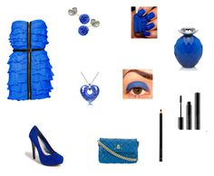 """BLEU"" by shel57 ❤ liked on Polyvore featuring Jessica Simpson, Antica Murrina, Swesky, Van Cleef & Arpels, Illamasqua, Giorgio Armani, Marc Jacobs and Rare London"