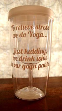Wine Sippy Cup Sayings - these would be great gifts for neighbors, block parties, pool parties! From TheDesigNest (Haha I need this in my life! Wine O Clock, Phrase Cute, Look At You, Just For You, Doug Funnie, How To Do Yoga, How To Make, Wine Quotes, Wine Sayings