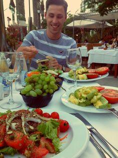 Lots of veggies - that's a proper dinner!