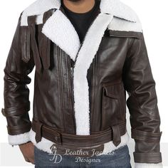 Leather Coats, Brown Leather, Leather Jacket, Winter Coat, Faux Fur, Shop Now, Winter Fashion, Slim, Wool