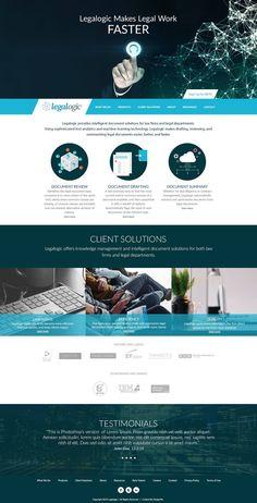 Legalogic website design Knowledge Management, Photoshop, Website, Design