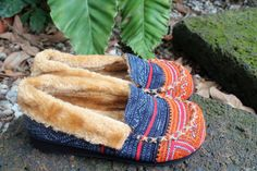 Hey, I found this really awesome Etsy listing at https://www.etsy.com/listing/193298671/vegan-mens-slippers-hmong-embroidery-and