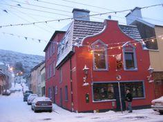 The corner in the snow