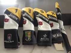 Iliac Golf created this custom set of headcovers from Graeme McDowell. Nona Blue, on the left cover, is McDowell new tavern near Lake Nona in Orlando.