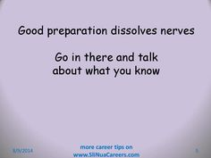 You can beat nerves Job Interview Tips