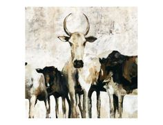 Love the colours in this painting entitled Herd.