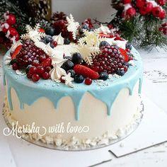 В зимних тортиках есть своё особенное очарование❤❤❤ Внутри нежнейший персиковый❄❄❄