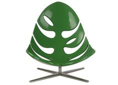 Artistic Indoor and Outdoor Glossy Leaves Lounge Chair, Monstera by Philip Ahlstrom