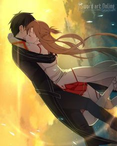 Asuna and Kirito swords arts online ok watch it for a great live and action anime with so funny stuff