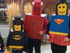 DIY Men Halloween Costumes : How to make your own LEGO Superhero Halloween costume Superhero Halloween Costumes, Lego Costume, Halloween Crafts, Halloween Decorations, Spiderman Costume, Batman Costumes, Superhero Party, Super Hero Costumes, Cool Costumes