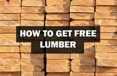 Get FREE Lumber for Woodworking! - Woodwork Made Easy Woodworking Shop Layout, Easy Woodworking Projects, Woodworking Plans, Diy Wood Projects, Wood Crafts, Free Lumber, Recycled Pallets, Recycled Furniture, Make It Simple