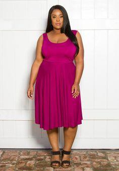 Women's Plus Size Dress   Maggie Tank Dress   SWAK Designs