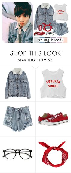 """""""Young Blood"""" by annefs1 ❤ liked on Polyvore featuring Seed Design, Converse, ZeroUV and Boohoo"""