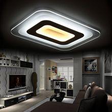 Современная площадь акриловые светодиодный потолочный светильник спальня гостиная свет украшения дома освещение светильники бесплатная доставка