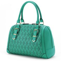 Eye-catching accents make this Apt. 9 one of a kind. Vegan Handbags, Blue Handbags, Satchel Handbags, Leather Handbags, My Bags, Purses And Bags, Vegan Purses, Cute Bags, Leather Satchel