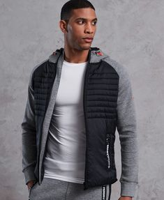 Men's Hoodies - You are in the right place about summer outfits Here we offer you the most beautiful pictures abou - Denim Jacket Men, Leather Jacket, Stylish Men, Men Casual, Casual Styles, Sport Logos, Outdoor Fashion, Fitness Outfits, Cool Hoodies