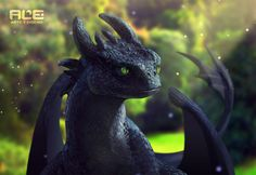 Toothless (realistic version) by DanteFitts
