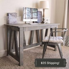 truss desk computer desk office work station rustic country