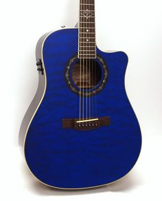 Fender T Bucket 300CE Dreadnought Cutaway Acoustic Electric Guitar Trans Blue