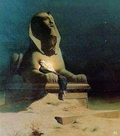 Luc-Olivier Merson, Riposo durante la fuga in Egitto (Detail).Olio su tela, 1879.