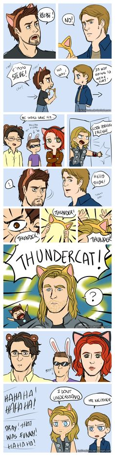 The thundercat by Tsuki-Nekota on deviantART Also that Hawkeye in the background is perfection XD
