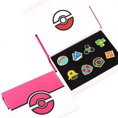 Pokemon Gym Badges: Gen 4 - Sinnoh League with Badge Box New