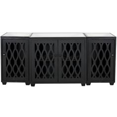 World Away 3 Piece Media Console In Rubbed Black BIG SUR BL