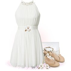 """""""White dress"""" by kiki-bi on Polyvore"""