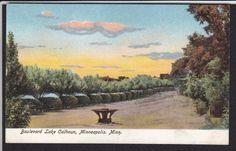 Minneapolis-MN-Boulevard-Lake Calhoun-Antique Postcard | eBay