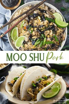Whip up your favorite Chinese take-out dish at home with this quick and easy Moo Shu Pork recipe! Ready in less than 30 minutes! Pork Tenderloin Recipes | Cabbage | Chinese Stir Fry Fried Pork Tenderloin, Pork Tenderloin Recipes, Pork Recipes, Asian Recipes, Ethnic Recipes, Yummy Recipes, Chinese Stir Fry, Chinese Food, Moo Shu Pork
