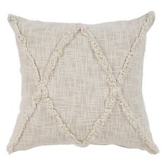 LR Home Carlton Khaki Diamonds Indoor Throw Pillow Natural 20 inch x 20 inch Indoor Square Hand - Crafted, White Smith And Noble, Diy Home, Home Decor, Decor Crafts, Diy Crafts, Geometric Throws, Modern Farmhouse Kitchens, Farmhouse Decor, Coastal Farmhouse