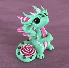 Mint Rose Dragon by Dragonsandbeasties