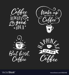 but first coffee. handwritten lettering design elements for cafe decoration and shop advertising. Coffee Chalkboard, Chalkboard Lettering, Chalkboard Signs, Lettering Design, Hand Lettering, Coffee Typography, Coffee Doodle, Coffee Bar Home, Coffee Illustration