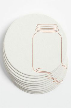 Ruff House Art 'Mason Jars' Letterpress Coasters (Set of 10) available at #Nordstrom