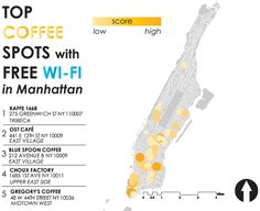 Free Wifi Nyc Map.10 Best New York Coffee Wifi Outlets Images New York Coffee