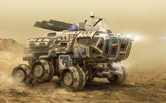MEV 02 - Mars Exploration Vehicle, Igor Sobolevsky on ArtStation at https://www.artstation.com/artwork/0aZ3y