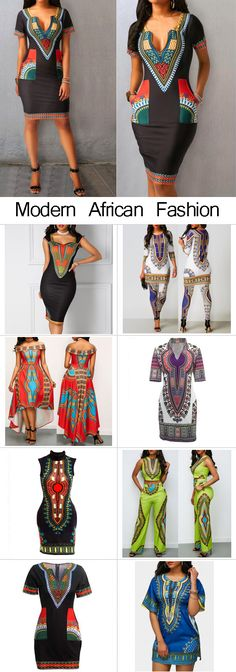 Modern African Fashion, African Print Dress